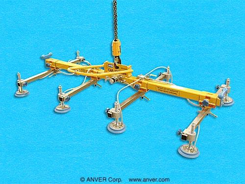 ANVER Eight Pad Vacuum Lifting Beam Assembly for Remote Vacuum Generators
