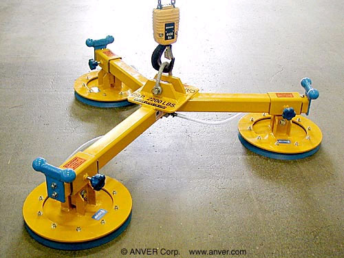 "ANVER Three Pad ""Y Shaped"" Vacuum Lifting Beam for Remote Vacuum Generators"