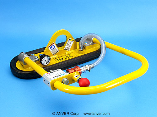 ANVER Single Pad Attachment with Custom Foam Pad for Lifting & Handling up to 300 lbs (136 kg)