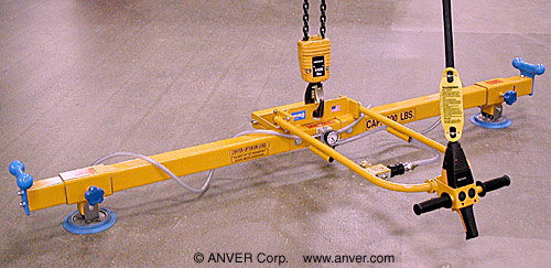 ANVER Two Pad Vacuum Lifting Beam Assembly for Use with Remote Generator