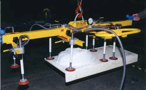 Eight Pad Vacuum Lifting Beam with Special Pad Suspensions