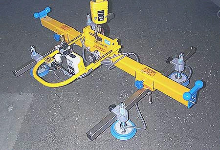 ANVER Four Pad Vacuum Lifting Beam for Remote Vacuum Generators