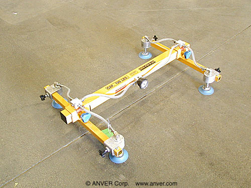 ANVER Four Pad Vacuum Lifting Frame with Silicone Vacuum Cups