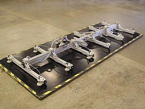 ANVER Twelve Pad Vacuum Lifting Frame with Air Powered Vacuum Generator