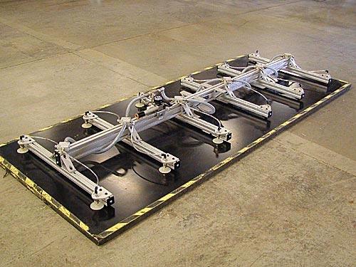 ANVER Twelve Pad Vacuum Lifting Frame with Air Powered Vacuum Generator