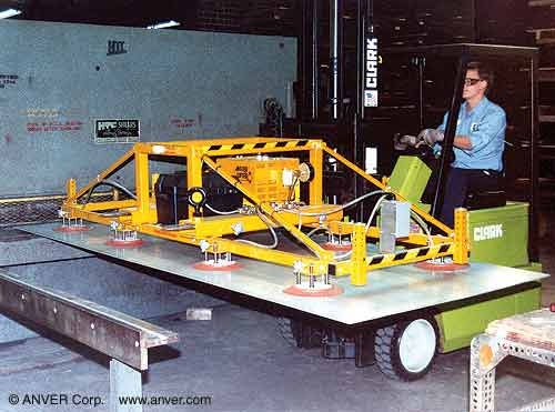 Battery Powered Vacuum Lifter With Special Fork Lift