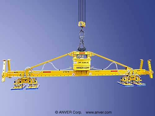 ANVER Heavy Duty Four Pad Self-Powered Mechanical Vacuum Lifter