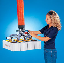 Ergonomic Vacuum Lifter - Adjustable Pads Handle Multiple Boxes