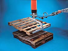 Fully Adjustable Pallet Lifting Attachment for Vacuum Tube Lifters