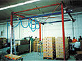 Typical Vacuum Tube Lifting System Setup for Palletizing Caseloads