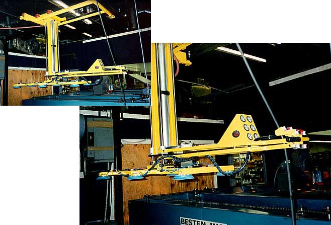 Six Pad Electric Powered Vacuum Lifter for Glass Processing