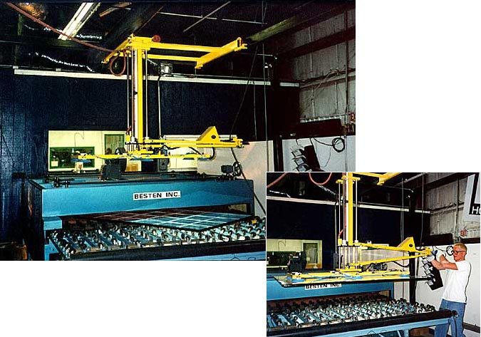 Electric Powered Vacuum Lifter for Glass Processing