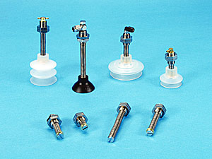 Spring Loaded Suspension Assemblies for ANVER Vacuum Suction Cups, P-Series Vacuum Suction Cups