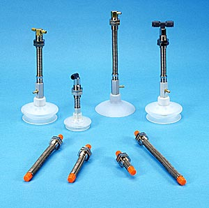 Spring Loaded Suspension Assemblies for ANVER Vacuum Cups, Suction Cups, P-Series Vacuum Suction Cups