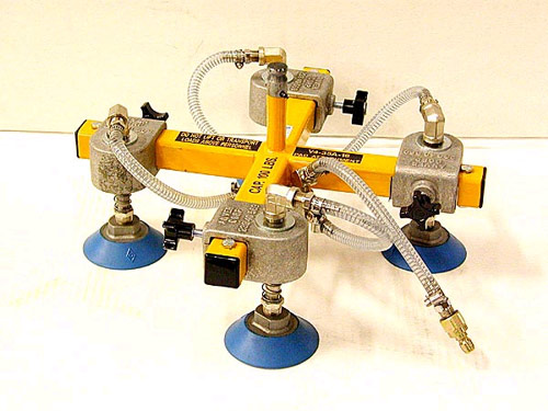 VM Vacuum-Hoist Lifting System with V2-50-24 Vacuum Pad Attachment