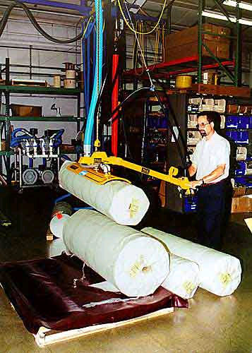 ANVER Vacuum Lifter with Curved Vacuum Attachment Pad for Lifting Curved Surfaces