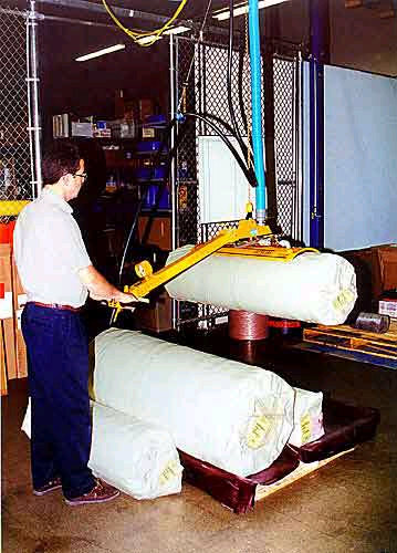 ANVER Ergonomic Vacuum Lifting System with Custom Vacuum Pad Attachment for Curved Surfaces