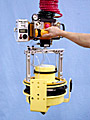 ANVER Hoist Integrated Air Powered VM System with Custom Pad Attachment for Handling Cable Reels up to 150 lb (68 Kg)