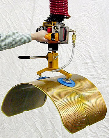 ANVER Hoist Integrated Air Powered Vacuum System with Special Tilting Pad Attachment