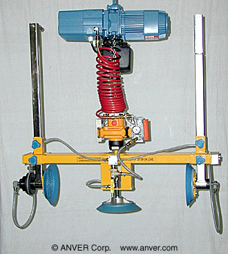 VM Series Hoist Integrated Lifter with Side Gripping Pads Retracted