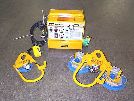 ANVER Electric Powered Remote Vacuum Generator with Single Pad and Dual Pad Vacuum Lifting Beams