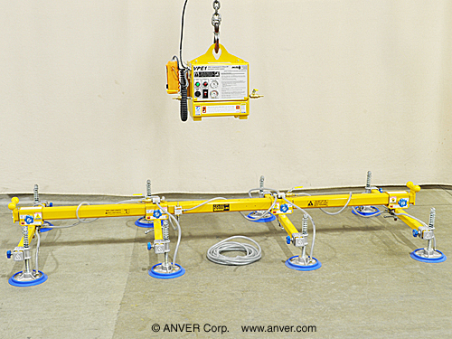ANVER Electric Powered Remote Vacuum Generator with Eight Pad Lifting Frame