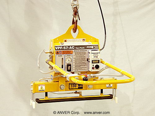 "ANVER Electric Powered Generator with Curved Foam Pad Attachment for Lifting & Handling Cylinders 3.5"" Diameter weighing up to 100 lbs (45 kg)"