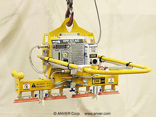 "ANVER Electric Powered Generator with Our Pad Inline Pad Attachment for Lifting & Handling Cylindrical Metal Ingots 4 "" to 6"" in Diameter up to 240 lbs (109 kg)"
