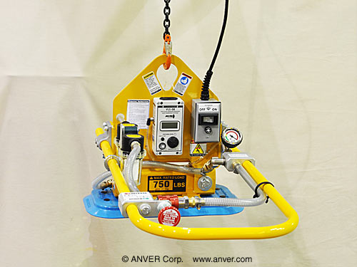 Electric Powered Vacuum Generator / Lift Frame with Single Pad Attachment