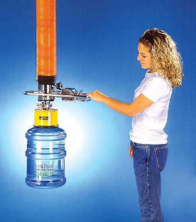 ANVER VT100 Vacuum Tube Lifting System with Bottle Lifting Attachment for Handling Large Water Bottles and Other Containers with Spouts