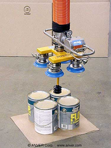 ANVER Vacuum Tube Lifter with Custom Five Pad Attachment