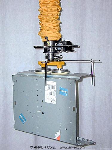 ANVER Vacuum Tube Lifting System with Two Pad Attachment with Positioning Guides