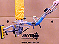 ANVER Vacuum Tube Lifter with Dual Pad Attachment and 90° Tilt Adapter for Handling Computer Equipment up to 125 lb (57 kg)