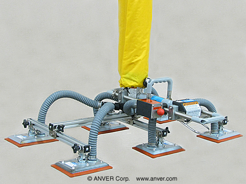 Vacuum Tube Lifter with Four Pad Lifting Frame Assembly for Lifting & Handling Particle Board Panels