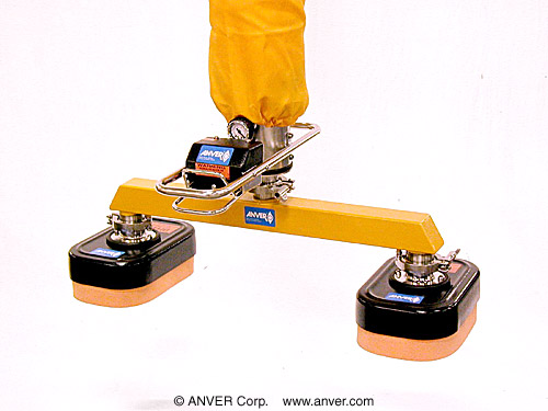 ANVER Vacuum tube Lifter with Dual Bag Head Attachment