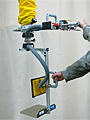 ANVER Vacuum Tube Lifter with Custom Side Gripping Pad Attachment for Lifting Boxes up to 35 lbs (15 kg)