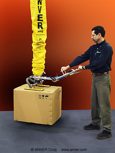 ANVER Vacuum Tube Lifter with Two Pad Attachment for Lifting & Handling Cartons up to 80 lbs (36 kg)