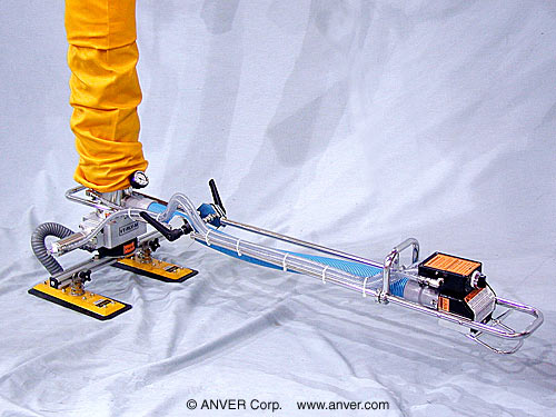ANVER Vacuum Tube Lifter with Compressed Air Option, Release/Lift Valve and Dual Pad Attachment for Lifting & Handling Boxes/Cartons up to 40 lb (18 kg)