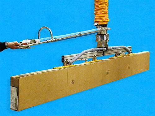 ANVER Vacuum Tube Lifter with Extended Length Control Handle and Four Pad In-line Vacuum Pad Attachment