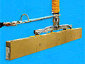 Vacuum Tube Lifter with Extended Length Control Handle and Four Pad In-line Vacuum Pad Attachment with Universal Joint for Load Balancing