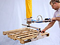 ANVER VT Series Vacuum Tube Lifter with Pallet Lifting Attachment for Lifting and Transporting Empty Pallets