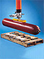 Vacuum Tube Lifter with Pad Attachment for Lifting Cylinders