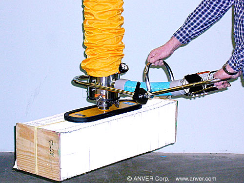 ANVER Vacuum tube Lifter with Single Foam pad Attachment for Lifting & Handling Paper Bundles up to 170 lb (77 kg)