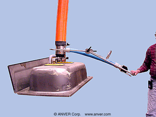 ANVER Vacuum Tube Lifter with Dual Pad Attachment for Lifting & Handling Tubs up to 200 lb (91 kg)
