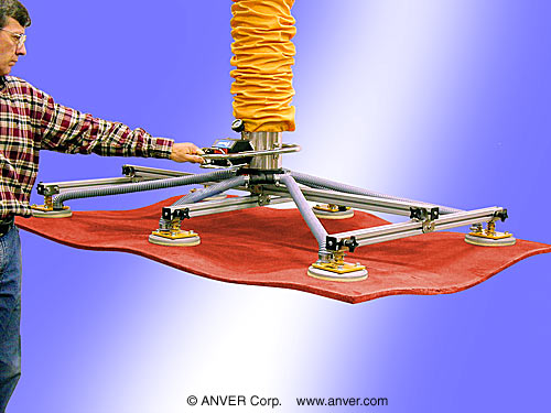 ANVER Vacuum Tube Lifter with Special Six Pad Attachment
