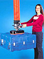 Vacuum Tube Lifter with Foam Seal Pad Attachment for Uneven Load Surfaces