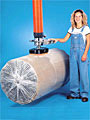 Vacuum Tube Lifter with Foam Seal Pad Attachment for Rolled Goods