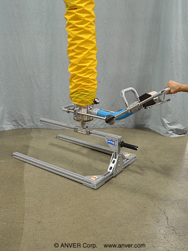ANVER Vacuum Tube Lifter with Pallet Lifting Attachment for Lifting & Handling Empty Pallets up to 215 lb (98 kg)