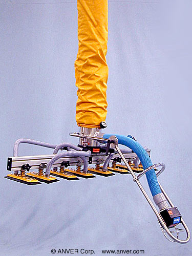 ANVER VT Series Tube Lifter with Eight Pad Attachment for Lifting & Handling Boxes up to 170 lb (77 kg)