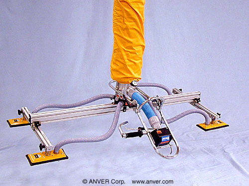 ANVER VT Series Tube Lifter with Release Assist Valve and Four Pad Attachment for Lifting & Handling Large Boxes up to 280 lb (127 kg)